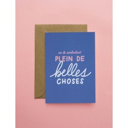 Carte double Plein de Belles Choses