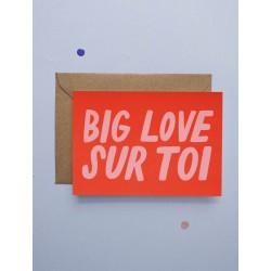 Carte double Big Love Sur Toi