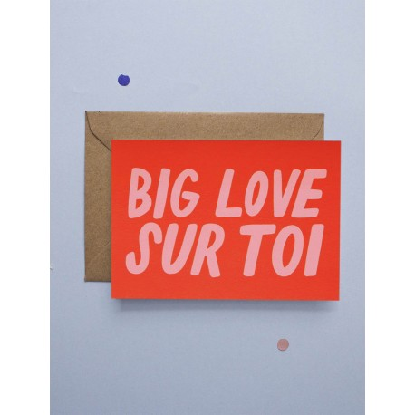 Carte double Big Love Sur Toi