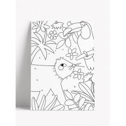 Carte postale à colorier - Lion