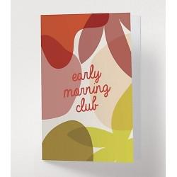 Carte postale Early morning club