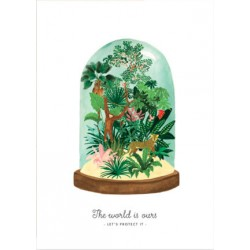 Affiche World to protect - Terrarium Medium