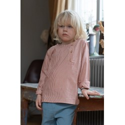 Blouse Jacques - 6 mois stripes rouille
