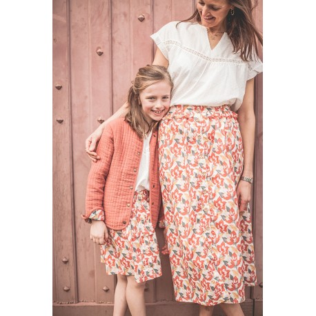 Jupe Jeanne printed flowers - Taille L