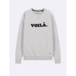 Sweat Voila gris - Taille L