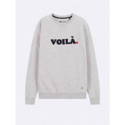 Sweat Voila gris - Taille XL
