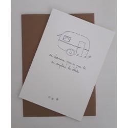 Carte et enveloppe Caravane