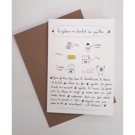 Carte et enveloppe Gateau au chocolat