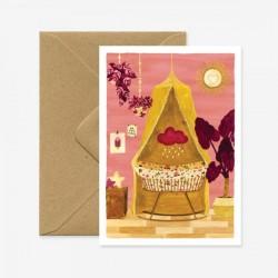 Carte Chambre de bébé - rose