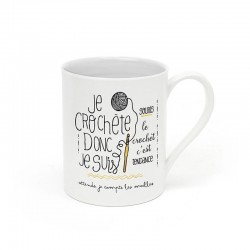 "Mug ""Je crochète donc je suis"""