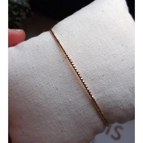 Bracelet Jonc Précieuse - doré travaillé