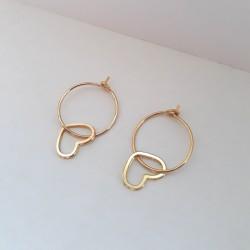 Boucles d'oreilles Passion doré