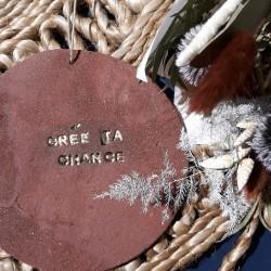Plaquette Terracotta - Crée ta chance