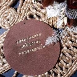 Plaquette Terracotta - Inspirante Créative Passionnée