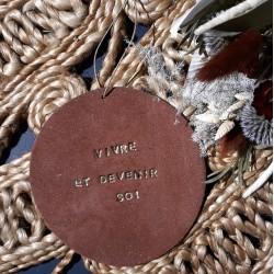 Plaquette Terracotta - Vivre et devenir soi