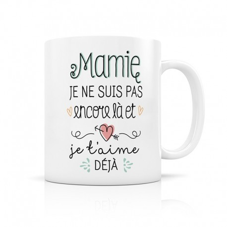 "Mug d'annonce ""Mamie"""