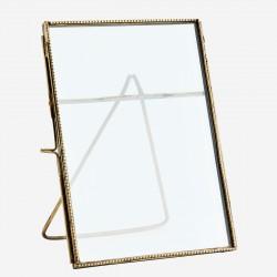 cadre à poser finition perlé doré 18x15cm