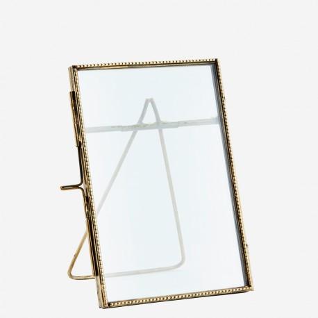 cadre à poser finition perlé doré 10x15cm