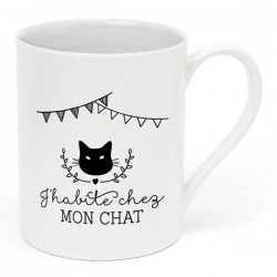 "Mug ""J'habite chez mon chat"""