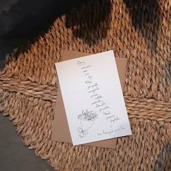 Carte et enveloppe Bouquet de fleurs
