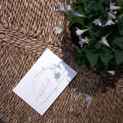 Carte et enveloppe Au bord de l'eau