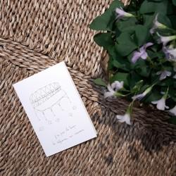 Carte et enveloppe Souvenir froissé