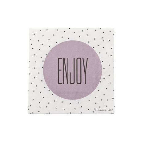 "Serviettes en papier ""Enjoy"""