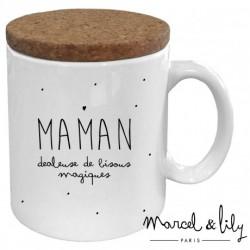 Mug avec couvercle Maman dealeuse de bisous
