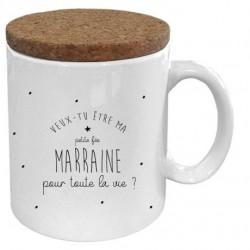 Mug avec couvercle Veux-tu être ma marraine