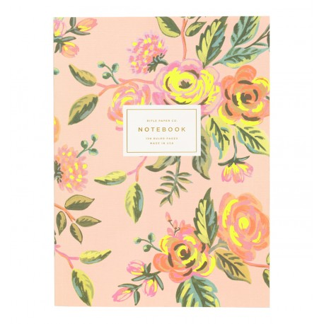 Cahier Jardin de paris fleurs fond rose - Rifle paper co