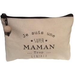 """Trousse """"Maman trop géniale"""""""