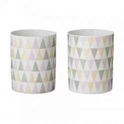 Photophore motifs triangles pastel, à l'unité
