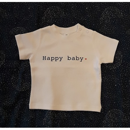 T-shirt Happy baby - 3/6 mois