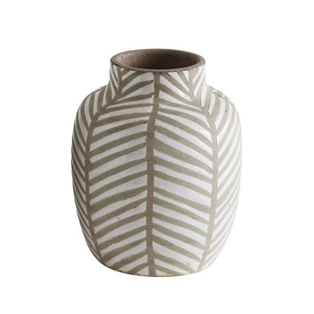 Petit vase feuillage naturel
