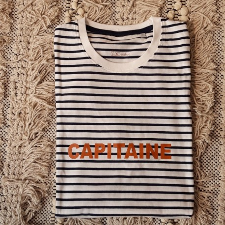 T-shirt Papa Capitaine - Taille M