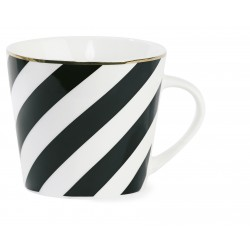 Mug XL rayures noires