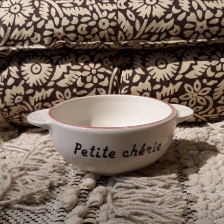 Bol breton Petite chérie - fleurs