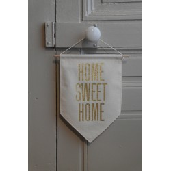 BANN GD ECRU HOME SWEET HOME