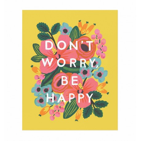 Affiche 20x25cm - Don't worry be happy