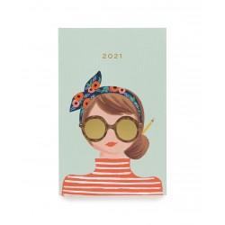 Agenda de poche 2021 Headband girl - version 12 mois