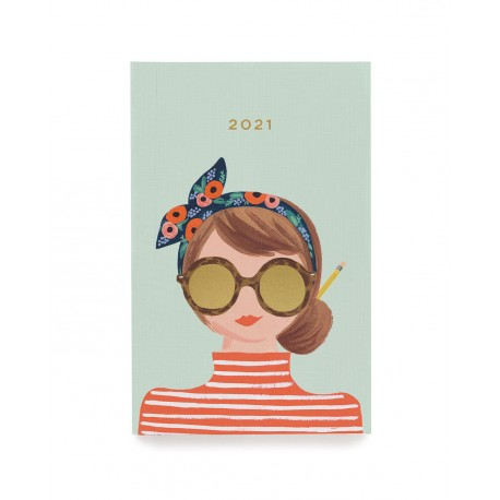 Agenda de poche 2021 Headband girl - version 12 mois