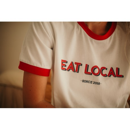 T-shirt d'allaitement Eat local rouge - Taille S