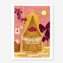 Affiche Small Chambre de bébé rose