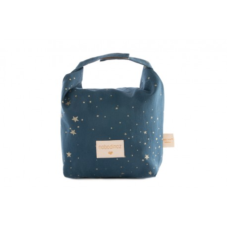Eco lunch bag too cool Gold stella night blue