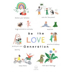 Affiche A3 Be the love generation