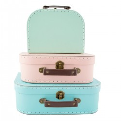 "Set de 3 valises ""Pastel"""