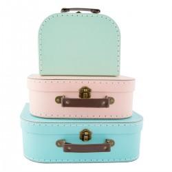 """Set de 3 valises """"Pastel"""""""