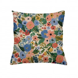 Coussin Garden party blue - carré