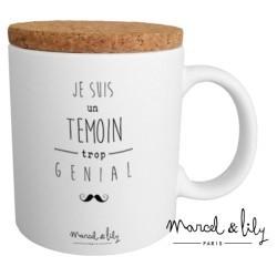 """Mug avec couvercle """"Témoin trop génial"""""""