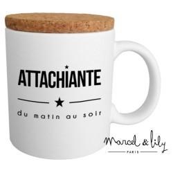 "Mug avec couvercle ""Attachiante"""